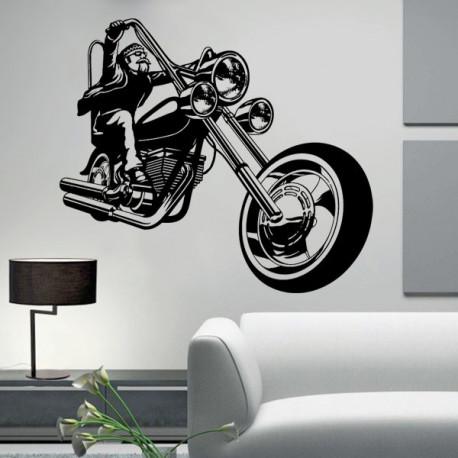 Vinilo decorativo Motero Harley