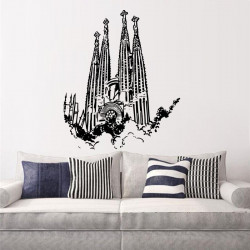 Vinilo decorativo Sagrada Familia Barcelona