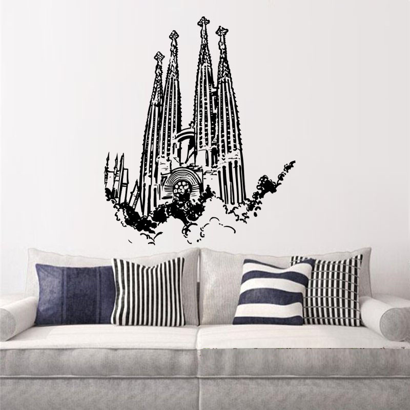 Vinilos Decorativos Mallorca.Vinilo Decorativo Sagrada Familia Barcelona