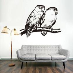 Vinilo decorativo pájaros, Agapornis