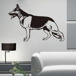 Vinilo decorativo perro, Pastor Alemán