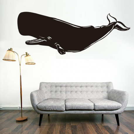 Vinilo decorativo ballena, cachalote