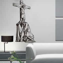 Vinilo decorativo Cristo en la cruz