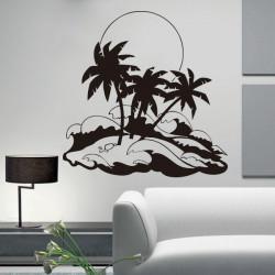 Vinilo decorativo Hawaii, sol y mar