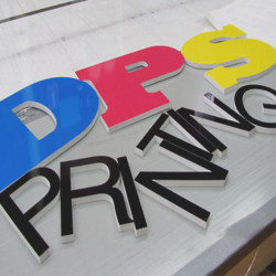 Letras recortadas PVC