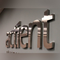 Dimensional steel letters