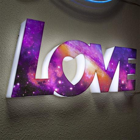 Rótulo Luminoso Love