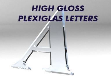 plexiglass letters